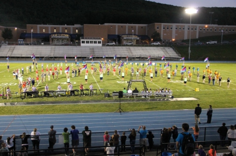 Raider Marching Band during Fall Meet The Raiders, TASD Sports Stadium, Tamaqua, 8-26-2015 (150)