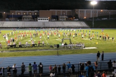 Raider Marching Band during Fall Meet The Raiders, TASD Sports Stadium, Tamaqua, 8-26-2015 (159)