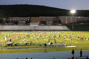 Raider Marching Band during Fall Meet The Raiders, TASD Sports Stadium, Tamaqua, 8-26-2015 (160)