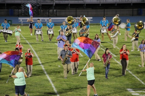 Raider Marching Band during Fall Meet The Raiders, TASD Sports Stadium, Tamaqua, 8-26-2015 (164)