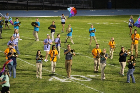 Raider Marching Band during Fall Meet The Raiders, TASD Sports Stadium, Tamaqua, 8-26-2015 (166)
