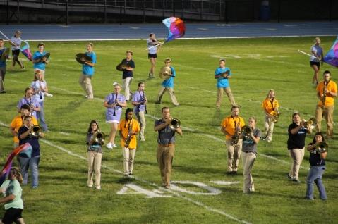 Raider Marching Band during Fall Meet The Raiders, TASD Sports Stadium, Tamaqua, 8-26-2015 (166)