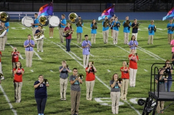Raider Marching Band during Fall Meet The Raiders, TASD Sports Stadium, Tamaqua, 8-26-2015 (174)