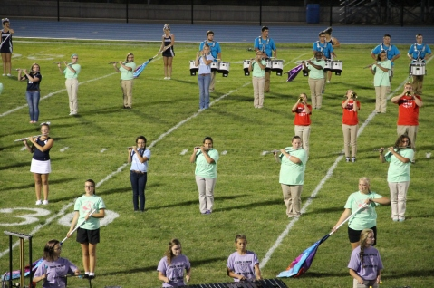 Raider Marching Band during Fall Meet The Raiders, TASD Sports Stadium, Tamaqua, 8-26-2015 (178)