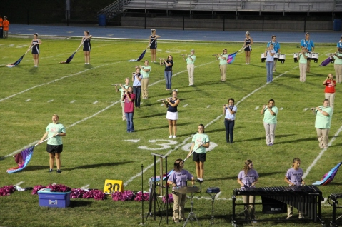 Raider Marching Band during Fall Meet The Raiders, TASD Sports Stadium, Tamaqua, 8-26-2015 (179)