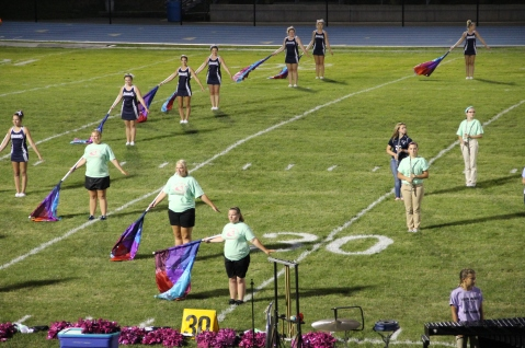 Raider Marching Band during Fall Meet The Raiders, TASD Sports Stadium, Tamaqua, 8-26-2015 (193)