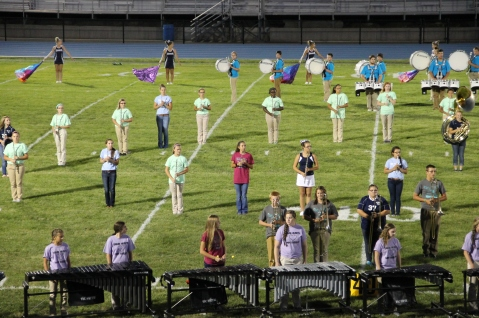 Raider Marching Band during Fall Meet The Raiders, TASD Sports Stadium, Tamaqua, 8-26-2015 (194)