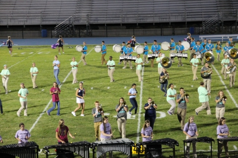 Raider Marching Band during Fall Meet The Raiders, TASD Sports Stadium, Tamaqua, 8-26-2015 (205)