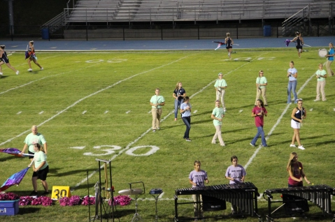 Raider Marching Band during Fall Meet The Raiders, TASD Sports Stadium, Tamaqua, 8-26-2015 (206)