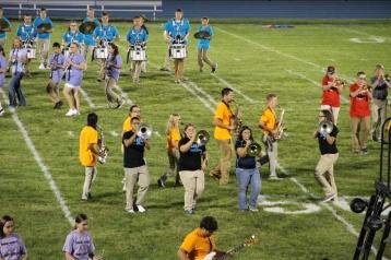 Raider Marching Band during Fall Meet The Raiders, TASD Sports Stadium, Tamaqua, 8-26-2015 (212)