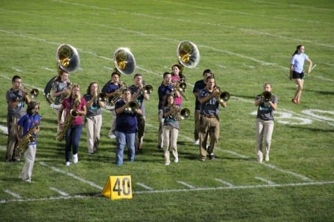 Raider Marching Band during Fall Meet The Raiders, TASD Sports Stadium, Tamaqua, 8-26-2015 (219)