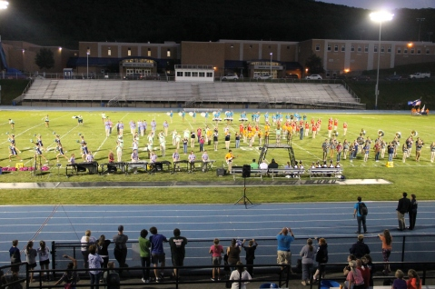 Raider Marching Band during Fall Meet The Raiders, TASD Sports Stadium, Tamaqua, 8-26-2015 (220)