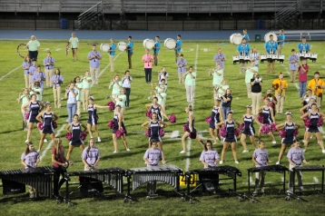 Raider Marching Band during Fall Meet The Raiders, TASD Sports Stadium, Tamaqua, 8-26-2015 (229)