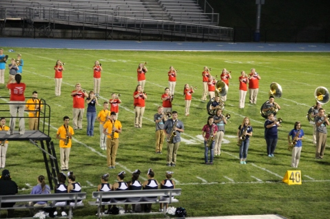 Raider Marching Band during Fall Meet The Raiders, TASD Sports Stadium, Tamaqua, 8-26-2015 (233)