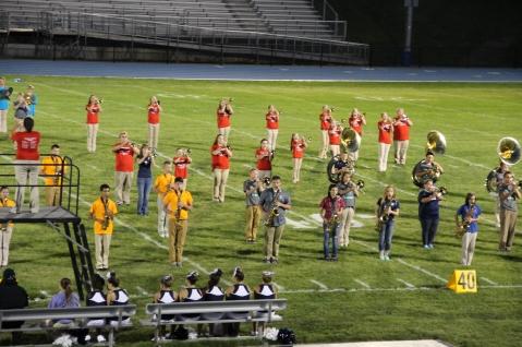 Raider Marching Band during Fall Meet The Raiders, TASD Sports Stadium, Tamaqua, 8-26-2015 (233)