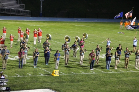Raider Marching Band during Fall Meet The Raiders, TASD Sports Stadium, Tamaqua, 8-26-2015 (234)