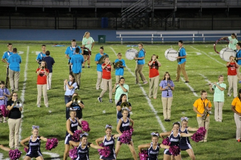 Raider Marching Band during Fall Meet The Raiders, TASD Sports Stadium, Tamaqua, 8-26-2015 (247)