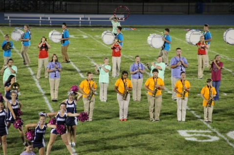 Raider Marching Band during Fall Meet The Raiders, TASD Sports Stadium, Tamaqua, 8-26-2015 (248)