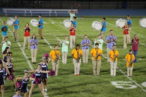 Raider Marching Band during Fall Meet The Raiders, TASD Sports Stadium, Tamaqua, 8-26-2015 (248)