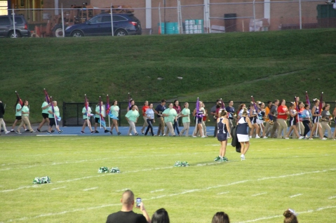 Raider Marching Band during Fall Meet The Raiders, TASD Sports Stadium, Tamaqua, 8-26-2015 (31)