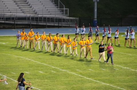 Raider Marching Band during Fall Meet The Raiders, TASD Sports Stadium, Tamaqua, 8-26-2015 (50)