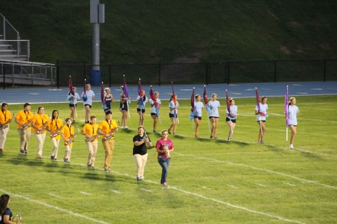 Raider Marching Band during Fall Meet The Raiders, TASD Sports Stadium, Tamaqua, 8-26-2015 (52)