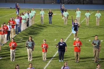 Raider Marching Band during Fall Meet The Raiders, TASD Sports Stadium, Tamaqua, 8-26-2015 (65)