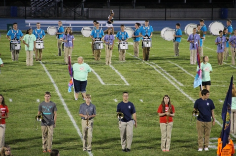 Raider Marching Band during Fall Meet The Raiders, TASD Sports Stadium, Tamaqua, 8-26-2015 (72)
