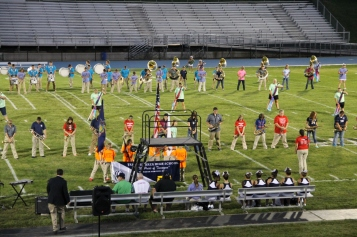 Raider Marching Band during Fall Meet The Raiders, TASD Sports Stadium, Tamaqua, 8-26-2015 (87)