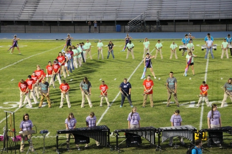 Raider Marching Band during Fall Meet The Raiders, TASD Sports Stadium, Tamaqua, 8-26-2015 (94)