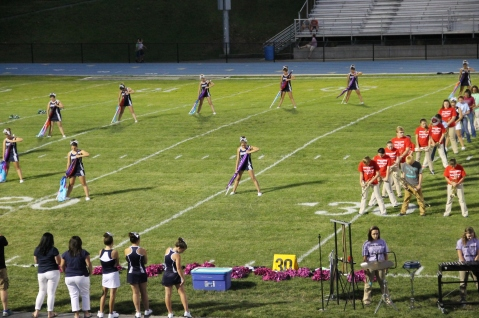 Raider Marching Band during Fall Meet The Raiders, TASD Sports Stadium, Tamaqua, 8-26-2015 (96)