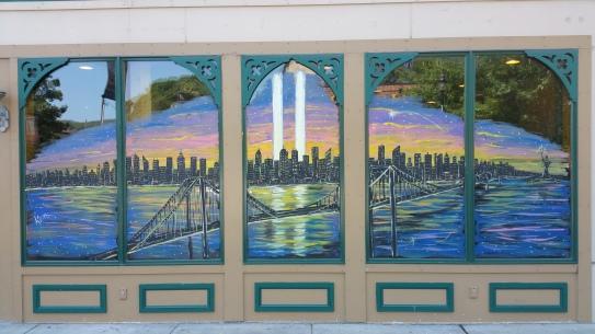 September 11 Mural, Painted, La Dolce Casa, Tamaqua, 8-15-2015 (3)
