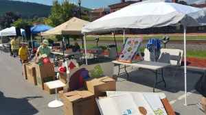 Setting Up For Salvation Army Kidz Karnival, Kids Carnival, Train Station Lot, Tamaqua, 8-4-2015 (26)