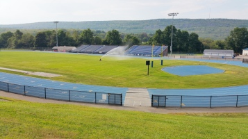 Spraying Water on the Field, TASD Sports Field, Stadium, Complex, Tamaqua (25)