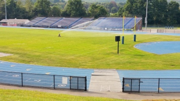 Spraying Water on the Field, TASD Sports Field, Stadium, Complex, Tamaqua (26)