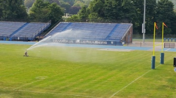 Spraying Water on the Field, TASD Sports Field, Stadium, Complex, Tamaqua (35)