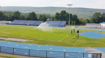 Spraying Water on the Field, TASD Sports Field, Stadium, Complex, Tamaqua (37)