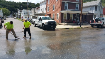 SR309 North to be Closed for Emergency Water Main Repair, Tamaqua, 8-6-2015 (5)
