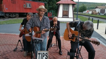 Steve Brosky & Jimmy Meyer, Tamaqua Chamber Summer Concert Series, Train Station, Tamaqua (34)