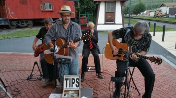 Steve Brosky & Jimmy Meyer, Tamaqua Chamber Summer Concert Series, Train Station, Tamaqua (36)