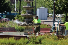 Tamaqua Borough Crews Setting Up, Dear Tamaqua, Depot Square Park, Tamaqua, 8-3-2015 (10)