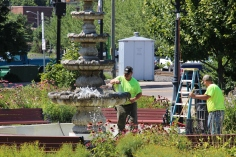 Tamaqua Borough Crews Setting Up, Dear Tamaqua, Depot Square Park, Tamaqua, 8-3-2015 (12)