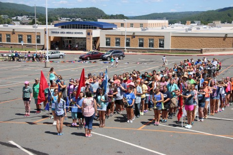 Tamaqua Raider Band Camp, Middle School Parking Lot, Tamaqua, 8-13-2015 (1)