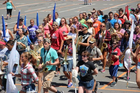 Tamaqua Raider Band Camp, Middle School Parking Lot, Tamaqua, 8-13-2015 (12)