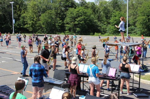 Tamaqua Raider Band Camp, Middle School Parking Lot, Tamaqua, 8-13-2015 (179)