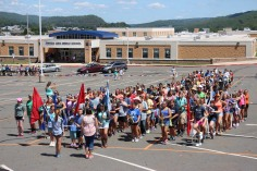 Tamaqua Raider Band Camp, Middle School Parking Lot, Tamaqua, 8-13-2015 (2)