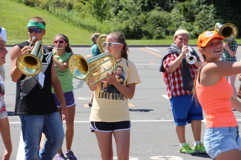 Tamaqua Raider Band Camp, Middle School Parking Lot, Tamaqua, 8-13-2015 (271)