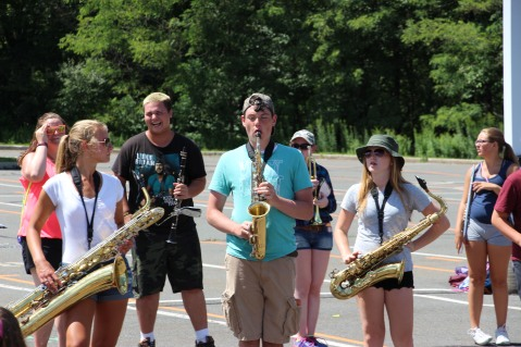 Tamaqua Raider Band Camp, Middle School Parking Lot, Tamaqua, 8-13-2015 (283)