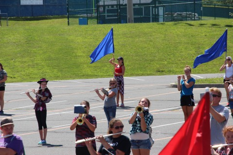 Tamaqua Raider Band Camp, Middle School Parking Lot, Tamaqua, 8-13-2015 (304)