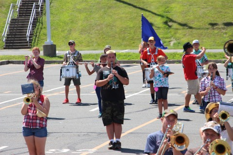 Tamaqua Raider Band Camp, Middle School Parking Lot, Tamaqua, 8-13-2015 (312)